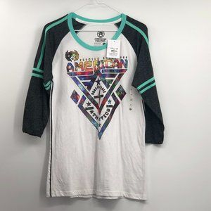 American fighter 3/4 sleeve top NWT